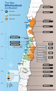 Chile wine map